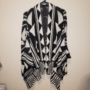 Charlotte Russe | OS geometric chunky open sweater
